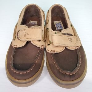 Boy's  Sperry Brown Slip-on Boat Shoes